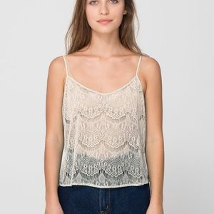 *2 for $12* American apparel lace camisole